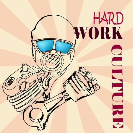 hard work culture Vector