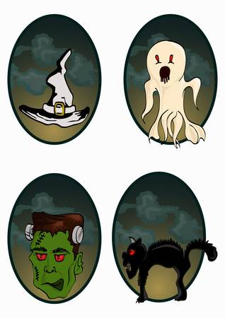 gost, and helloween icon Vector