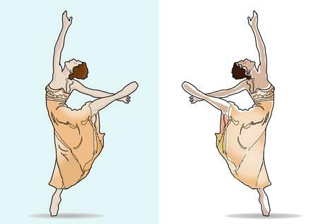 overture: twoo balerina dancers