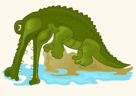 crocodile Stock Vector - 12479792