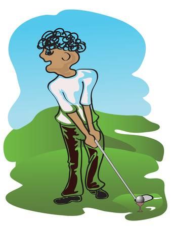 golf plater Vector