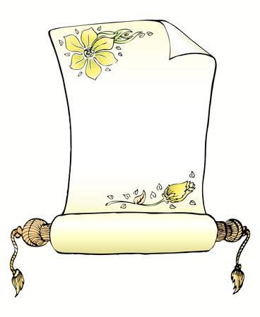 old leter paper Vektoros illusztráció