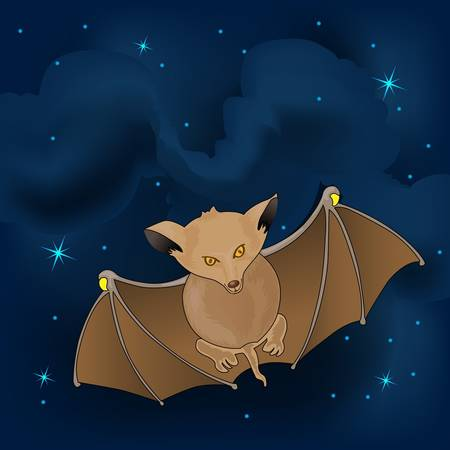 Bat flaying in the night  Stock Vector - 13224132