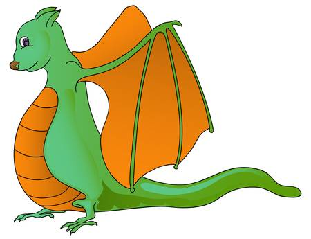 dragon cartoon isolated in white Stock Vector - 13224127