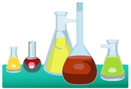 scientific glassware Vector