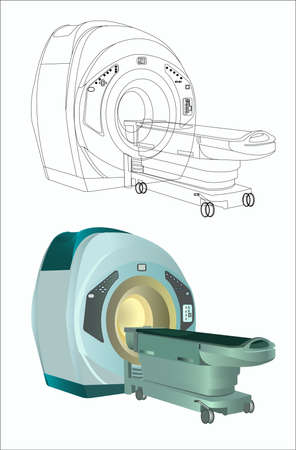 magnetic resonance imaging_MRI in hospital Vector