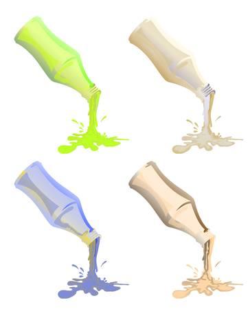bottle pouring liquid