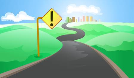 long road to the big city Illustration