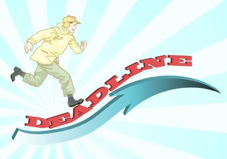 runing: man runing for deadline