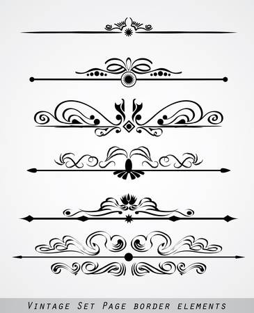 set of page border ornament Vector