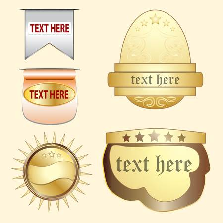 metal label with blank space for text Vector