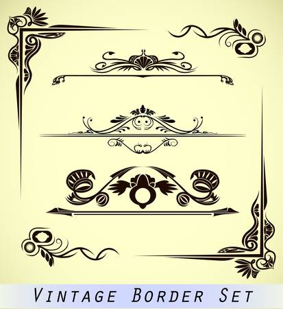 vintage ornamental border  Vector