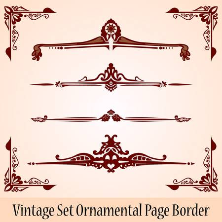 divider: vintage page border Illustration