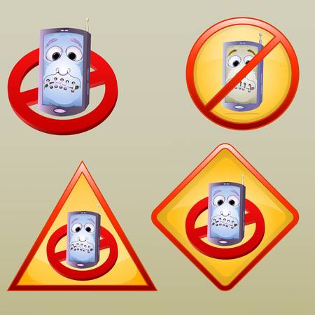 various turn off hand phone icon Vector