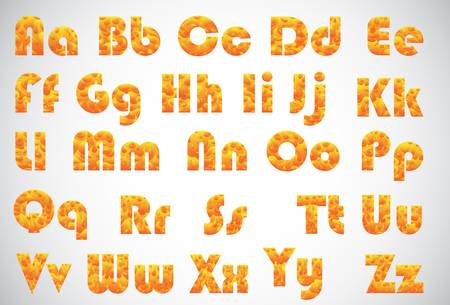 fire burning alphabet isolated on grey color