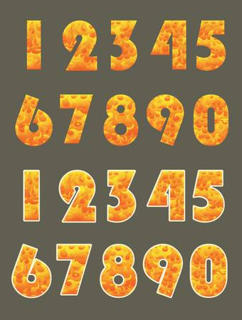 burned number with sticker style isolated on dark Illustration