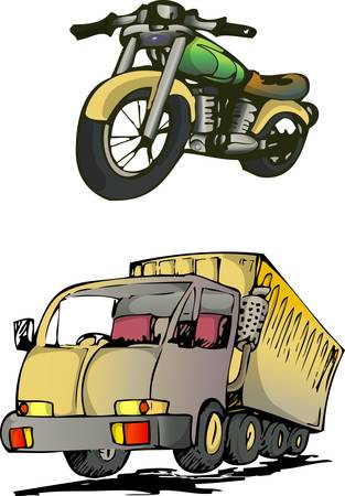 vehicle hand draw Illustration