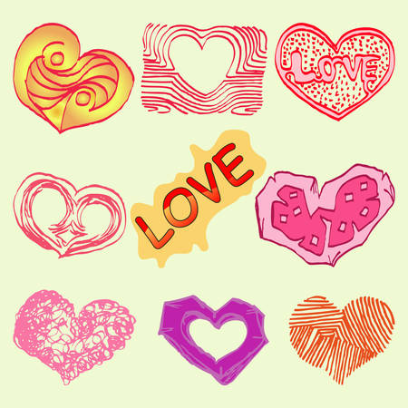 set of love icon Illustration
