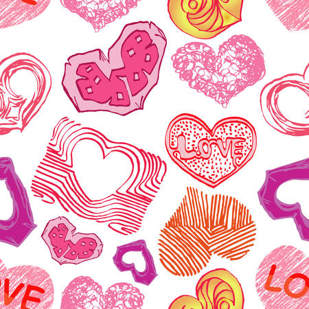 love icon seamless pattern