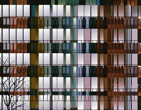 windows of building vector illustration