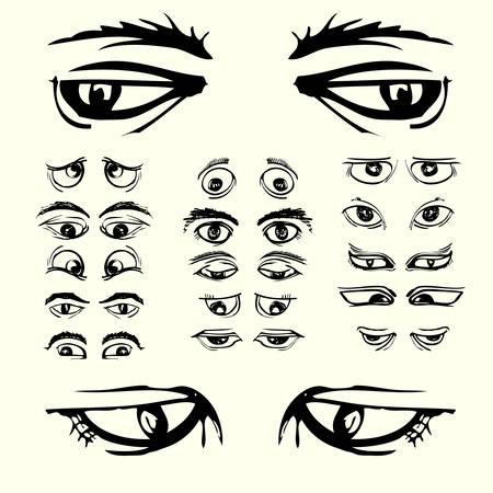 set of eyes isolated