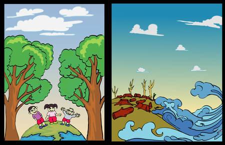 environmental poster design Illustration