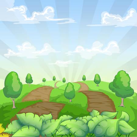 green landscape country side vector illustration