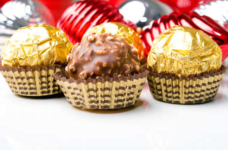 chocolate candy treats with christmas new year holiday theme stock photo picture and royalty free image image 6052647