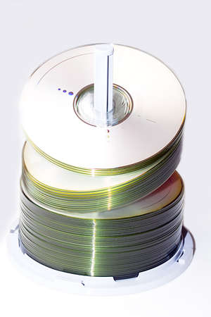 Pack of blank new CD DVD compact disc