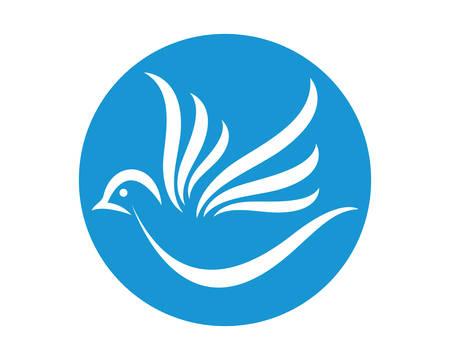 Dove Logo Template vector  icon illustration design
