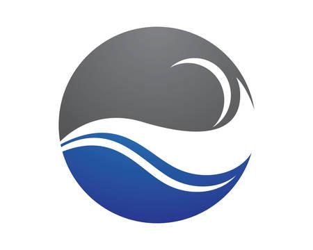 Water Wave logo vector icon illustration design Banco de Imagens - 105408244