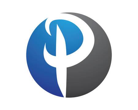 P letter logo vector icon illustration design