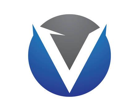 V letter logo vector icon illustration design Illustration