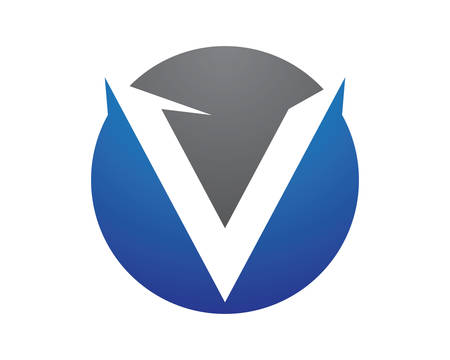 V letter logo vector icon illustration design 矢量图像