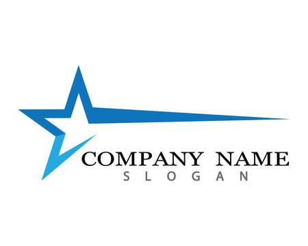 Stern-Logo-Schablonenvektorikonen-Illustrationsentwurf