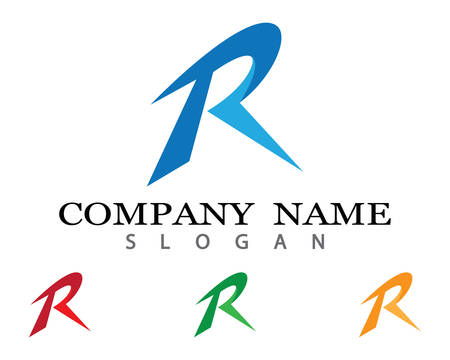R letter logo vector icon illustration design