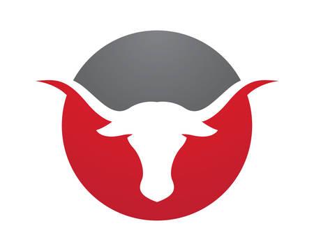 Bull Logo Template vector icon illustration Vectores