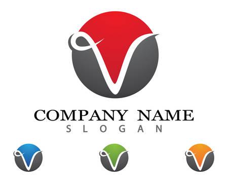 V letter vector icon illustration design