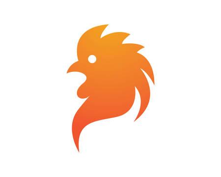 Rooster logo template vector icon illustration design Ilustração