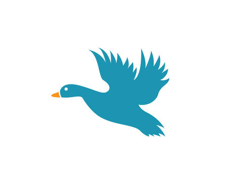Duck template vector icon illustration design