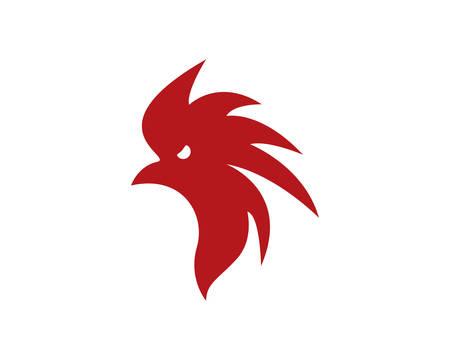 Rooster  icon illustration design