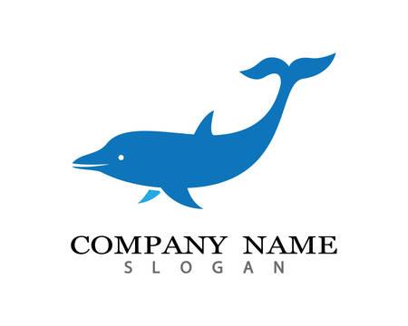 Dolphin logo template  icon illustration design