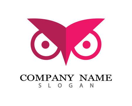 Owl logo template icon illustration design Stock Vector - 105668589