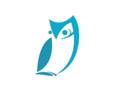 Owl template icon illustration design Stock Vector - 105668592