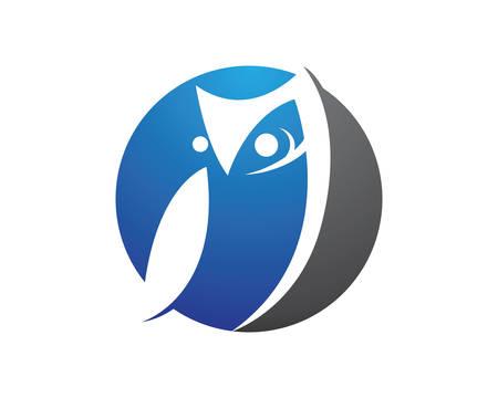Owl template icon illustration design