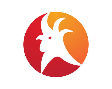 Rooster  template  icon illustration