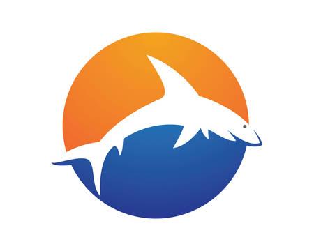 Shark  Template  icon illustration design