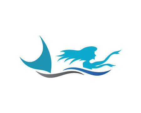 Mermaid template icon illustration design
