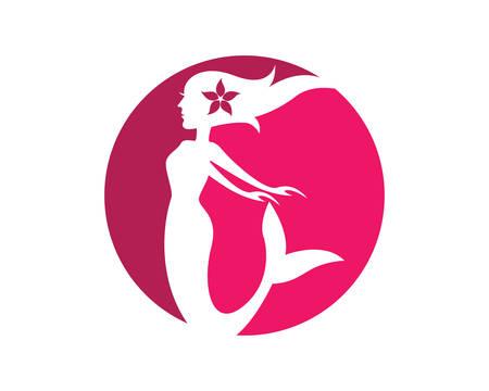 Mermaid logo template vector icon illustration design