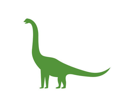 Brontosaurus logo template vector icon illustration design Illustration
